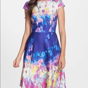 Adrianna Papell Dress in Watercolor Floral